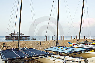 Catamarans op strand