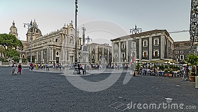 Catania Cathedral Editorial Stock Photo