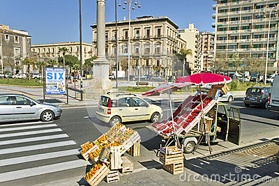 Catania city, Italy. Editorial Stock Image