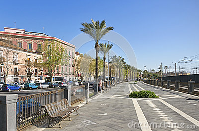 Catania city, Italy. Editorial Photo