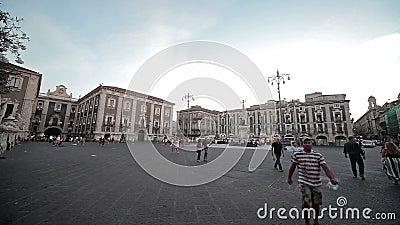Catania den 27 juli 17 Sicilien, Italien stock video