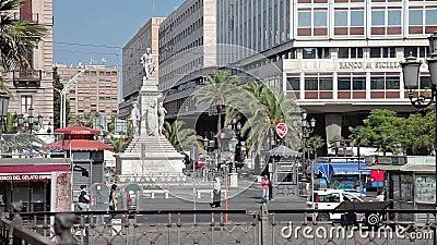 Catania den 27 juli 17 Sicilien, Italien arkivfilmer