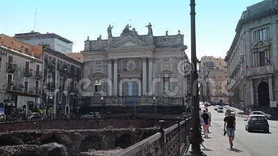 Catania den 27 juli 17 Sicilien, Italien lager videofilmer