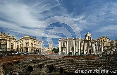Catania Roman Amphitheatre (panorama)