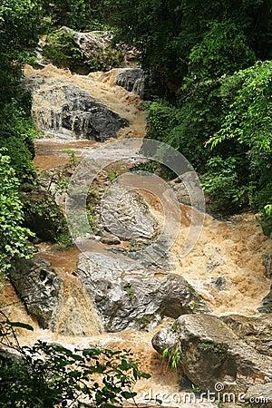 Cataract after rain ,Thailand