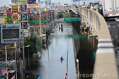Catastrophe in Bangko from 22.11.2 Editorial Stock Photo
