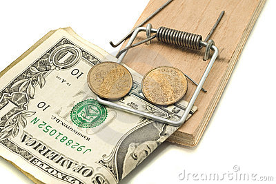 Catch it - money in the mousetrap