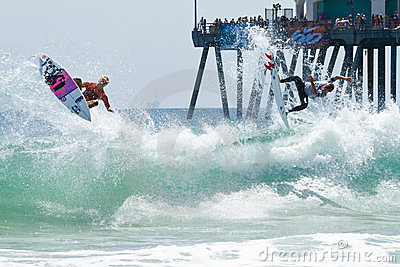 Catching Big Air at the US Open Editorial Photo