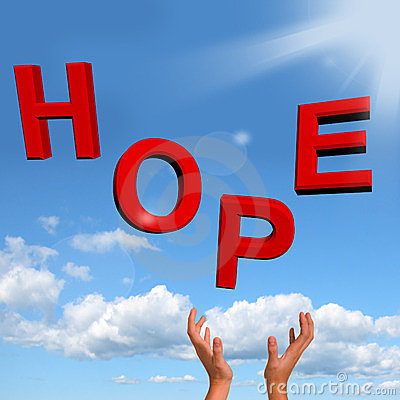 Catching Hope Letters As Sign Of Wishing