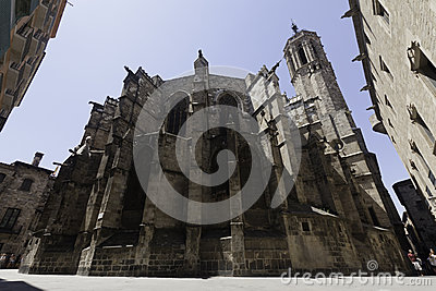 Catedral de Barcelona Stock Photo