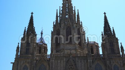Catedral de Barcelona. visão geral vídeos de arquivo
