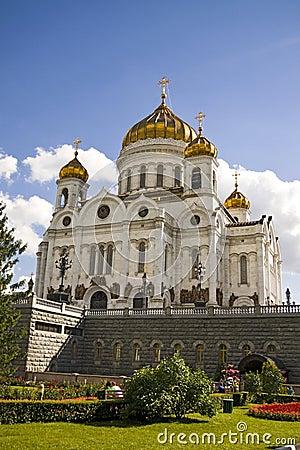 Catedral de Cristo o salvador, Moscovo, Rússia.