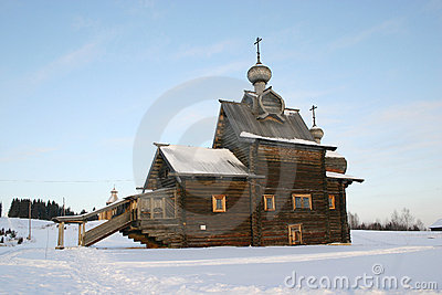 Catedral de madera rusa