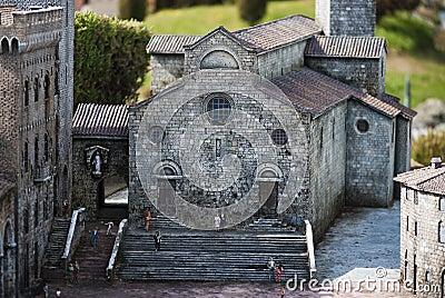 Catedral de San Gimignano Imagen editorial