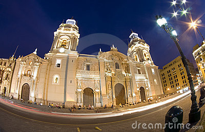 Catedral on plaza de armas plaza mayor lima peru