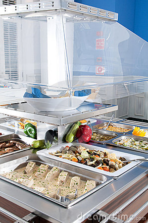 Catering food at a celebration