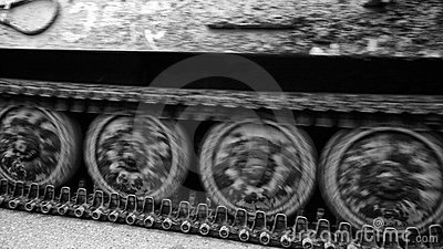 Caterpillar tracks of tank