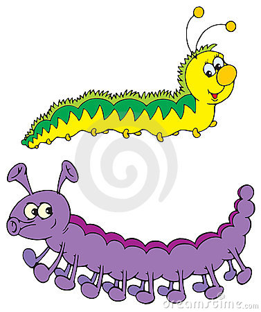 Free Caterpillars (vector Clip-art) Royalty Free Stock Photos - 3279728