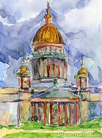 Cathédrale à St Petersburg