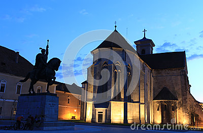 Cathédrale de rue Michael dans Iulia alba, Roumanie