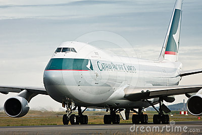 Cathay Pacific Cargo Boeing 747 airliner Editorial Photography