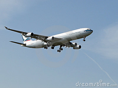 Cathay Pacific Plane Editorial Stock Photo