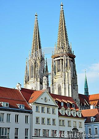 Cathédrale à Ratisbonne, Allemagne