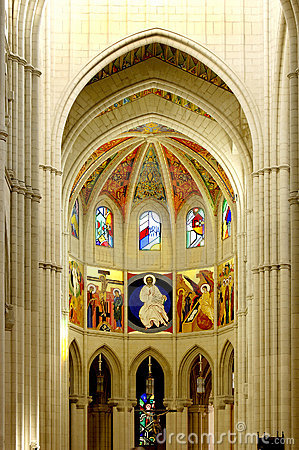 Cathedral of Almudena, Madrid. Principal dome