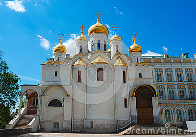 Cathedral of the Annunciation at Kremlin in Moscow