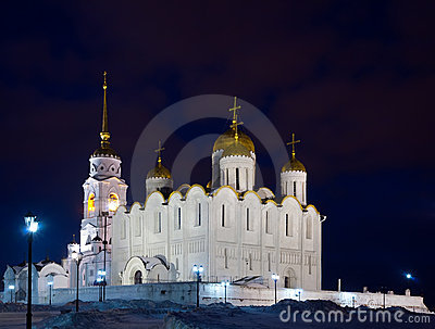 Cathedral of the Assumption in night