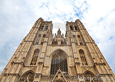 Cathedral in Brussels, Belgium