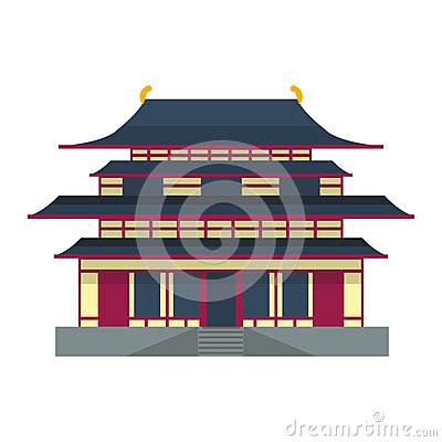 Cathedral chinese churche temple building landmark tourism world religions and famous structure traditional city ancient Vector Illustration