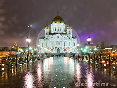 The Cathedral of Christ the Savior. Moscow. Russia