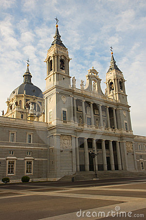 Cathedral church Almudena, Madrid, Spain