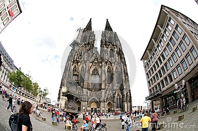Cathedral of Cologne - Germany Editorial Photography