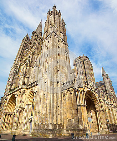 Cathedral in Coutances, France