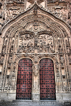 Free Cathedral Door In Salamanca Royalty Free Stock Photo - 7652185