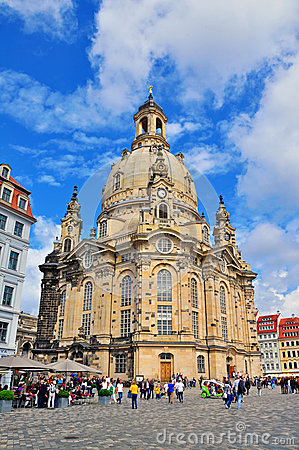 Cathedral of Dresden Editorial Stock Photo