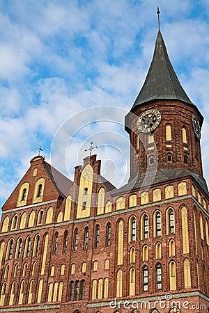 Cathedral facade, Kaliningrad, Russia