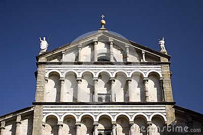 Cathedral facade in Tuscany