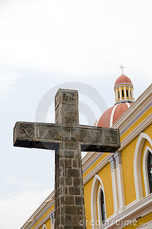 cathedral of grenada nicaragua catholic cross
