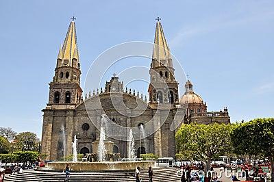 Cathedral of Guadalajara Mexico Editorial Stock Photo