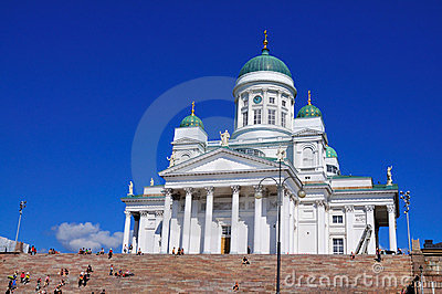 Cathedral of Helsinki, Finland Editorial Photography