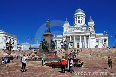 Cathedral of Helsinki, Finland Editorial Stock Photo