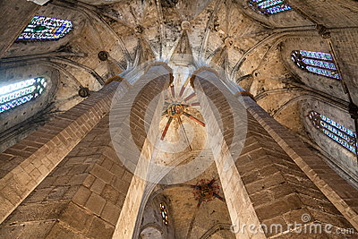 Cathedral of the Holy Cross and Saint Eulalia Editorial Stock Image