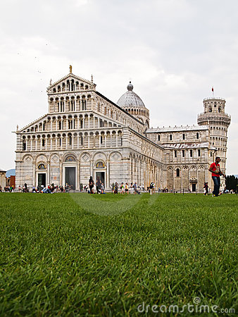 Cathedral and the Leaning Tower PISA, Italy Editorial Photography