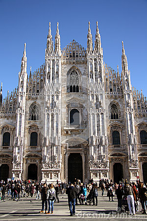 Cathedral in Milan, Italy Editorial Stock Image