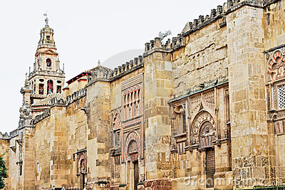 The Cathedral Mosque Walls in Cordoba, Spain