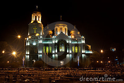 Cathedral in night