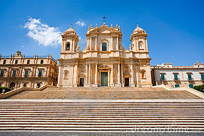The Cathedral in Noto, Sicily, Italy
